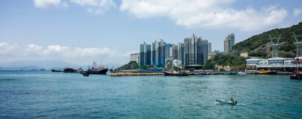 view of Hong Kong from water